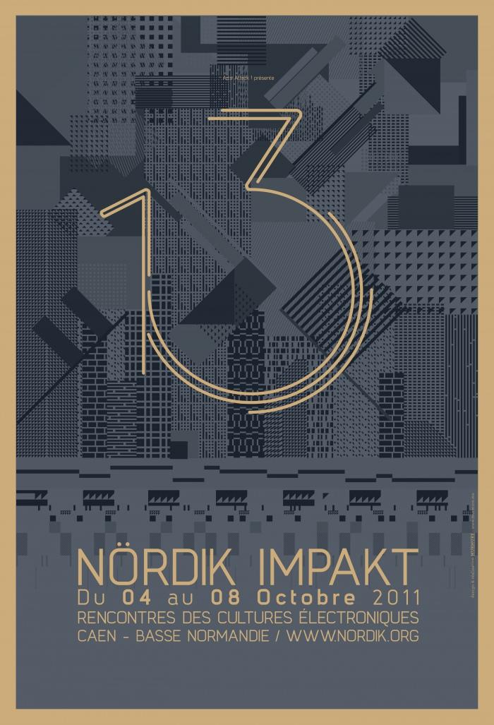 Affiche Nördik Impakt de l'année 2011