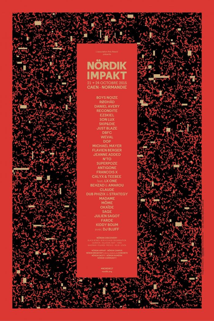 Affiche Nördik Impakt de l'année 2015