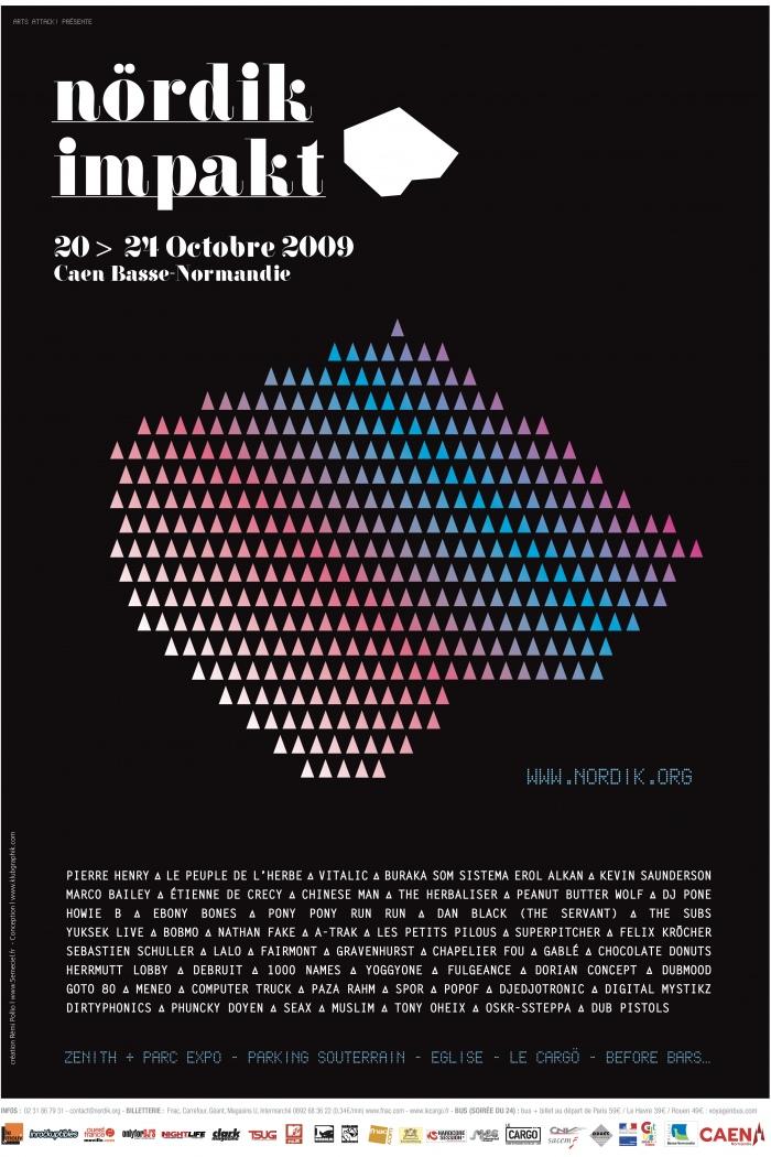 Affiche Nördik Impakt de l'année 2009