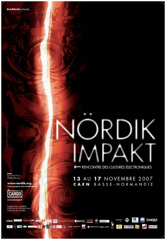 Affiche Nördik Impakt de l'année 2007