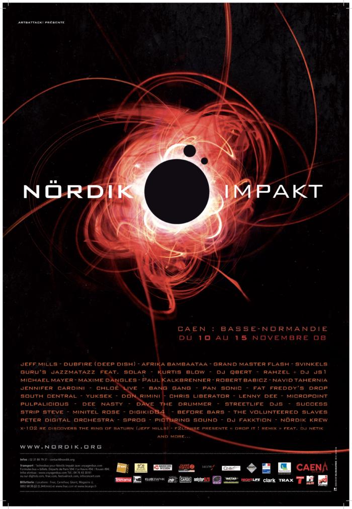 Affiche Nördik Impakt de l'année 2008